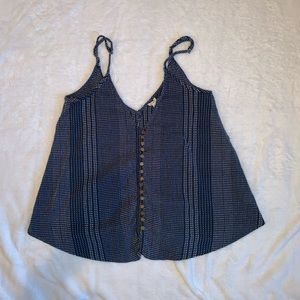 Women's Large crop top with buttons